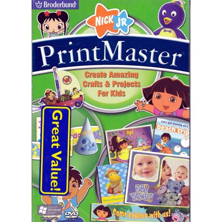 PrintMaster Nick Jr. Edition PC DVDRom ~ Create Amazing Crafts & Projects for Kids (greeting cards, invitations & more)](Halloween Kids Invitations)