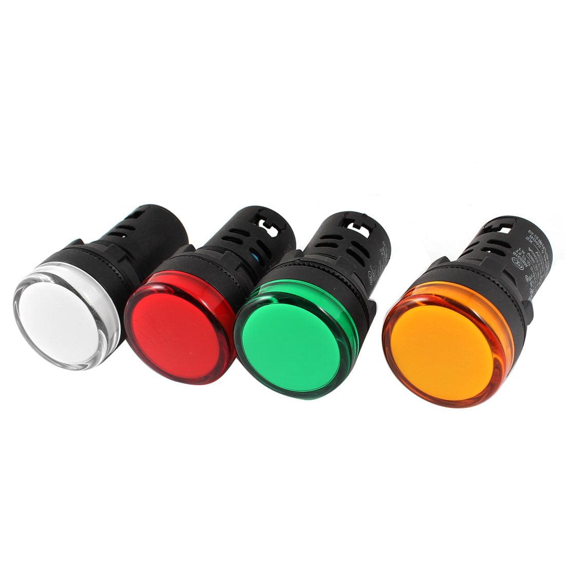Unique Bargains 4 x Plastic Housing  Power Indicator Pilot Signal Light Lamp AC380V