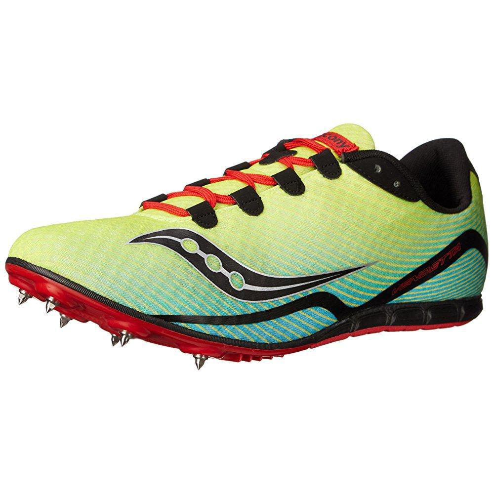 Saucony men's vendetta track spike racing shoe, citron/bl...