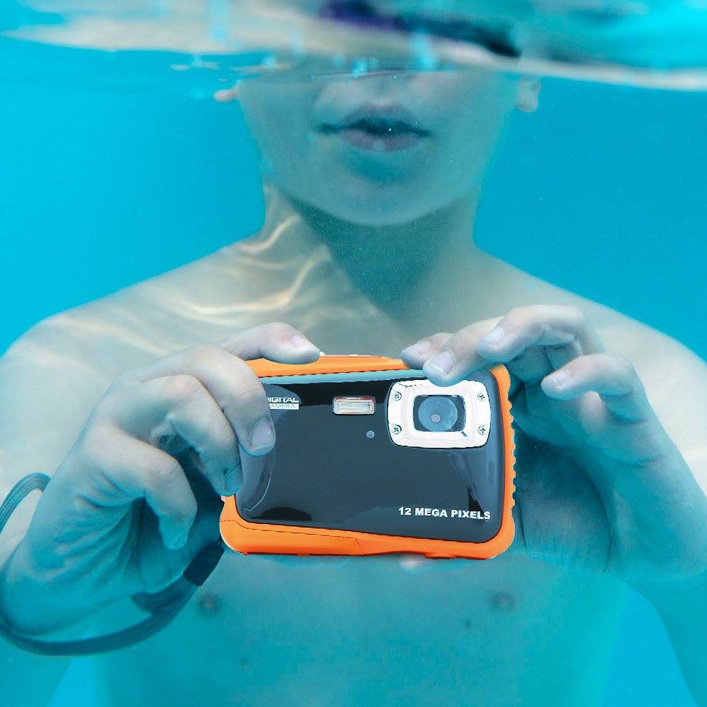 Waterproof Camera,VGEBY Kids Waterproof High Definition Underwater Swimming Digital Camera Camcorder by VGEBY