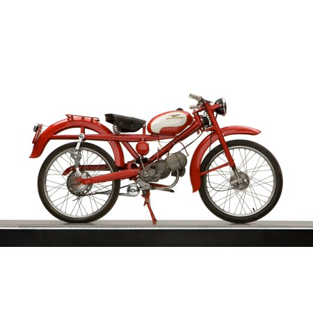 1957 Moto Guzzi Hispania 73cc Lightweight motorcycle Canvas Art - Panoramic Images (12 x 20)