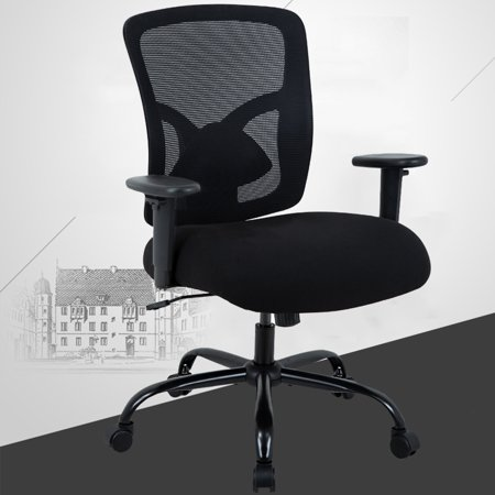 Big And Tall 400LB Office Chair, Ergonomic Executive Desk Chair Rolling Swivel Chair Adjustable Arms Mesh Back Computer Chair With Lumbar Support Task Chair For Women, Men