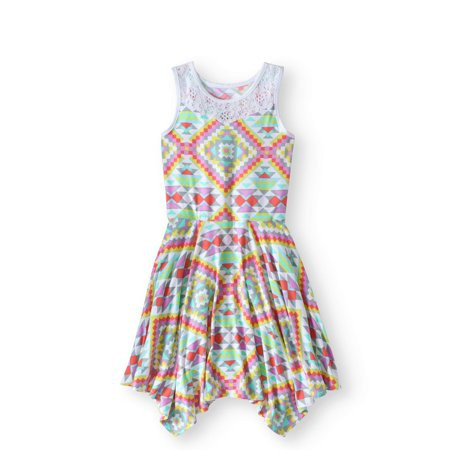 Wonder Nation Girls' Lace Yoke Hanky Dress