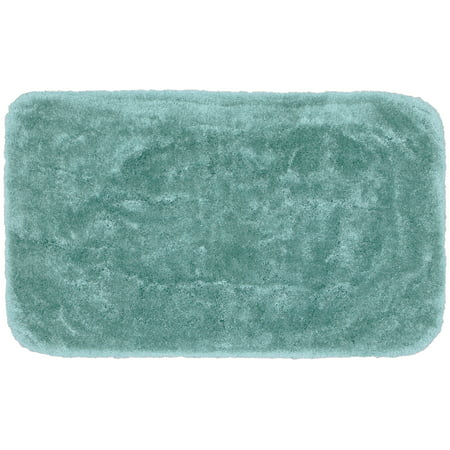 "Garland Rug Finest Luxury Ultra Plush Washable Bath Rug Sea Foam, 30""x50"""