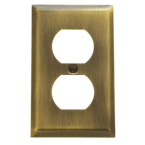 Baldwin Classic Square Bevel Design Single Duplex Switch Plate