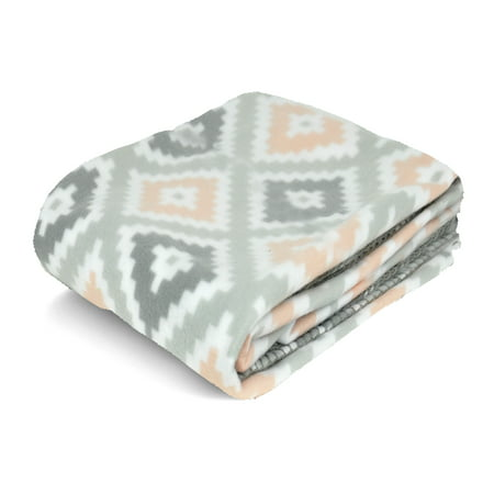 Mainstays Fleece Plush Throw Blanket, Available In Multiple -