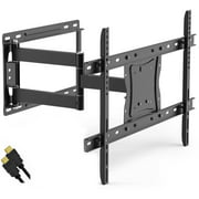 """Full Motion TV Wall Mount for 19""""-84"""" TVs with Tilt and Swivel Articulating Arm and HDMI Cable, UL Certified"""