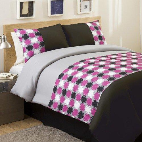 Lush Decor Mod Print Comforter Set in Pink / Gray
