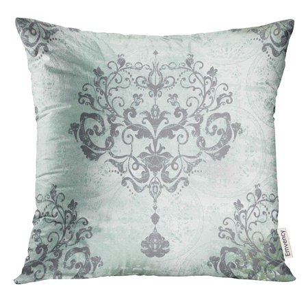 BSDHOME Silver Vintage Damask Floral Pattern for Baroque Pillow Case 20x20 Inches Pillowcase - image 1 de 1