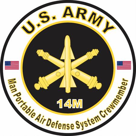 3.8 Inch U.S. Army MOS 14M Man Portable Air Defense System