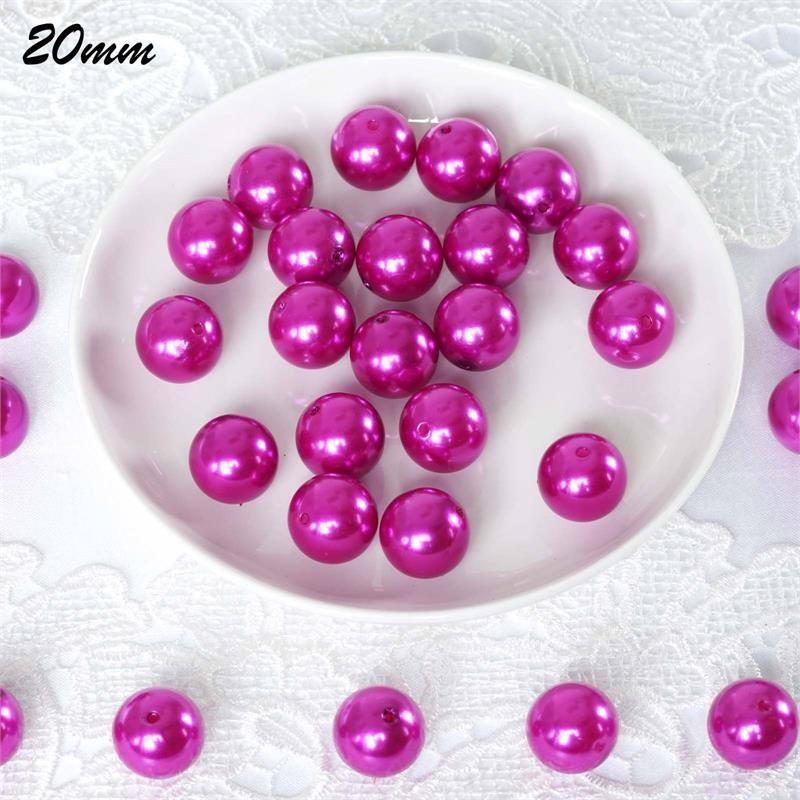 Efavormart 20MM BIG Wedding Faux Pearl Beads Garland Loose Faux Pearl Beads for Jewelry Making Supplies Or Vase Fillers - 120 PCS