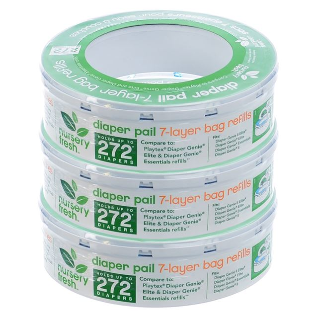 Nursery Fresh Diaper Pail Refill For Diaper Genie 3-Pack by Munchkin