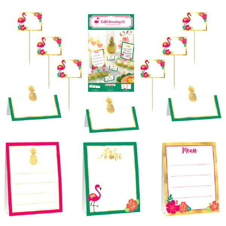 Hawaiian Luau 'Aloha' Buffet Decorating Kit (12pc)](Aloha Party Supplies)
