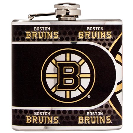 Boston Bruins 6oz. Stainless Steel Hip Flask - Silver - No Size - Great American Products Hip Flask