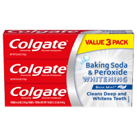 9Pk Colgate Baking Soda and Peroxide Whitening Toothpaste 6oz + $5 GC
