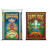 FoxFarm Light Warrior Seed Germinator Soil Mix and Happy Frog Potting Soil Mix