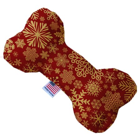 Red Snowflakes 6 Inch Bone Dog Toy