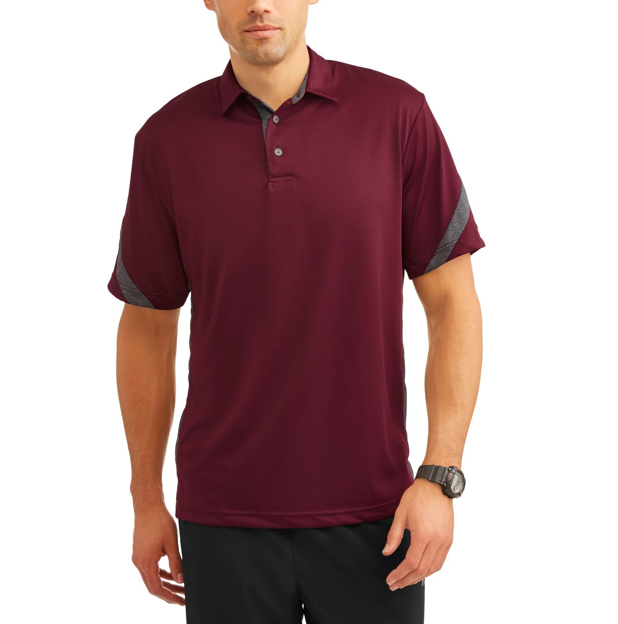 Men's Performance Short Sleeve Color Block Polo Shirt