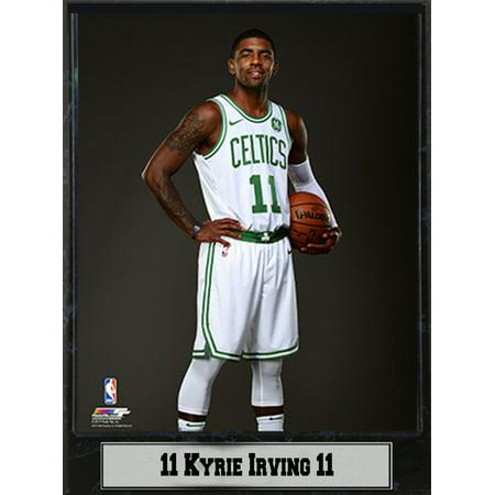 9x12 Stat Plaque - Kyrie Irving Boston (Boston Celtics Floor)
