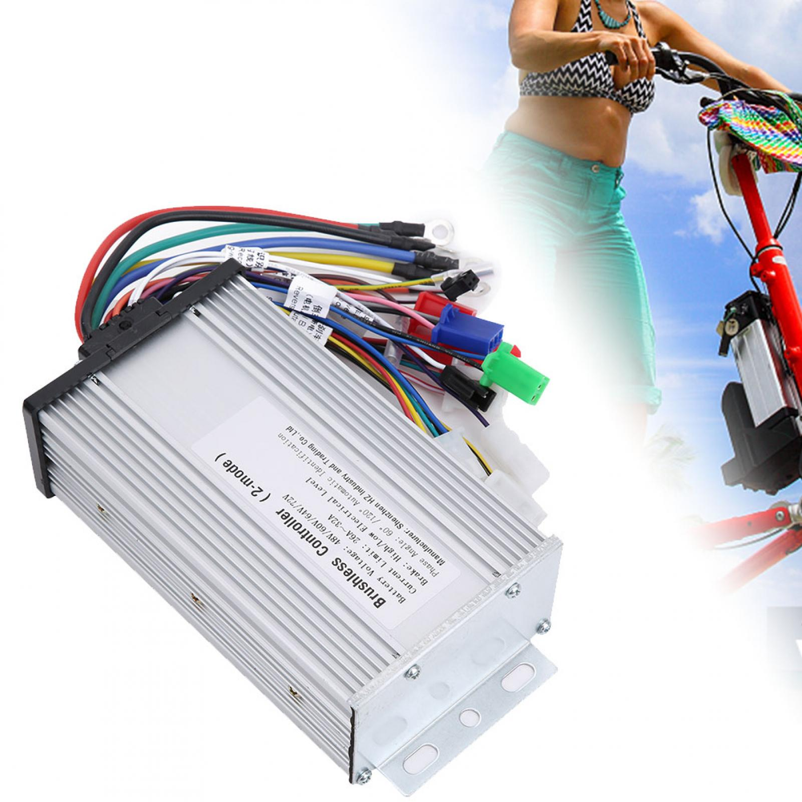 Details about  /Electric Scooter Brushless Controller Motor Multi-mode Speed Attachment