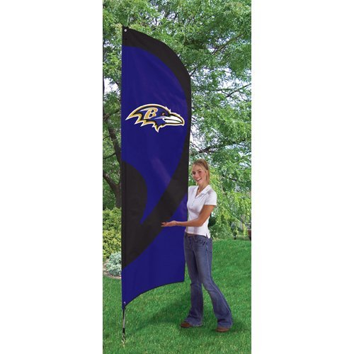Party Animal Ravens Tall Team Flag with Pole