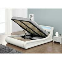 Eagle Furniture Serpentine Platform Storage Bed with LED Headboard
