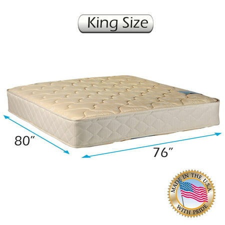 Chiro Two-Sided Gentle Firm King Mattress Only with Mattress Cover Protector Included (Beige) - Premier Orthopedic type, Fully Assembled, Innerspring coils, Long Lasting Comfort by Dream Solutions
