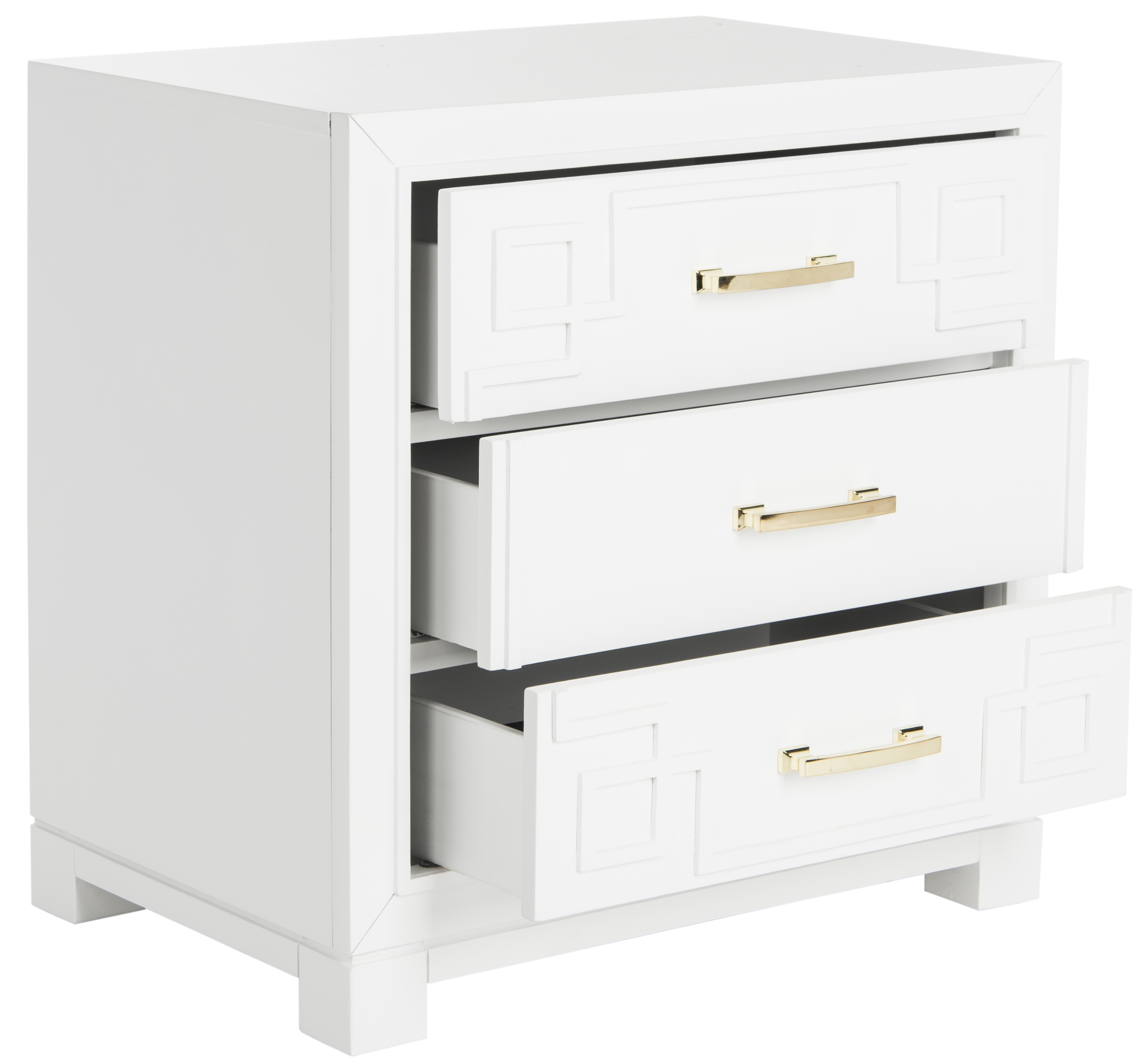 Safavieh Raina Greek Key Solid Night Stand with 3 Drawers