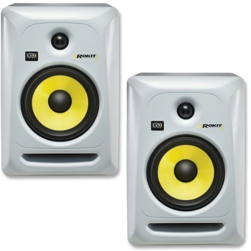 KRK RP6G3W Rokit 6 Generation 3 Powered Studio Monitor - White - Pair