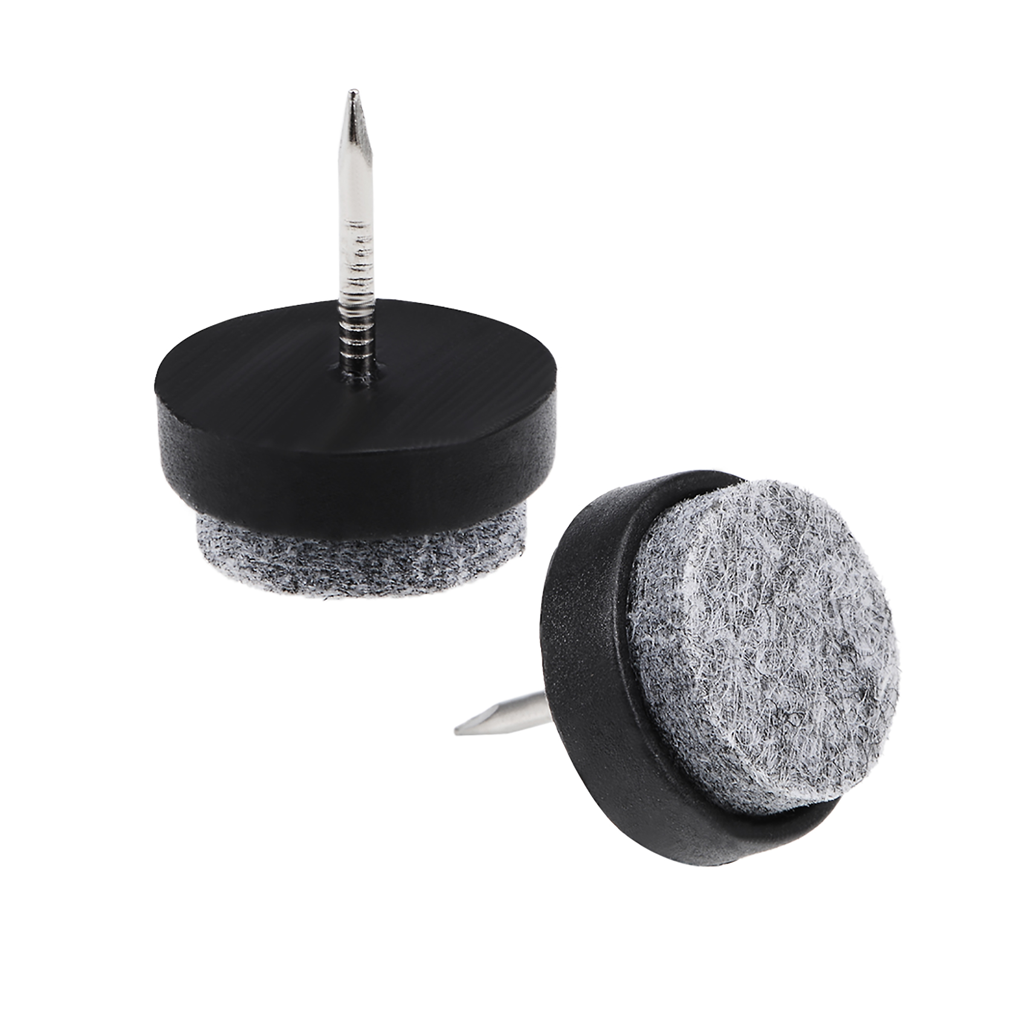 Nail On Furniture Felt Pads Glide Chair Table Leg Protector 20mm Dia Black 46pcs - image 5 of 5
