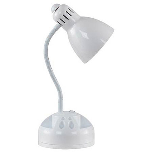 Mainstays Gooseneck Organizer Desk Lamp White Walmart Com