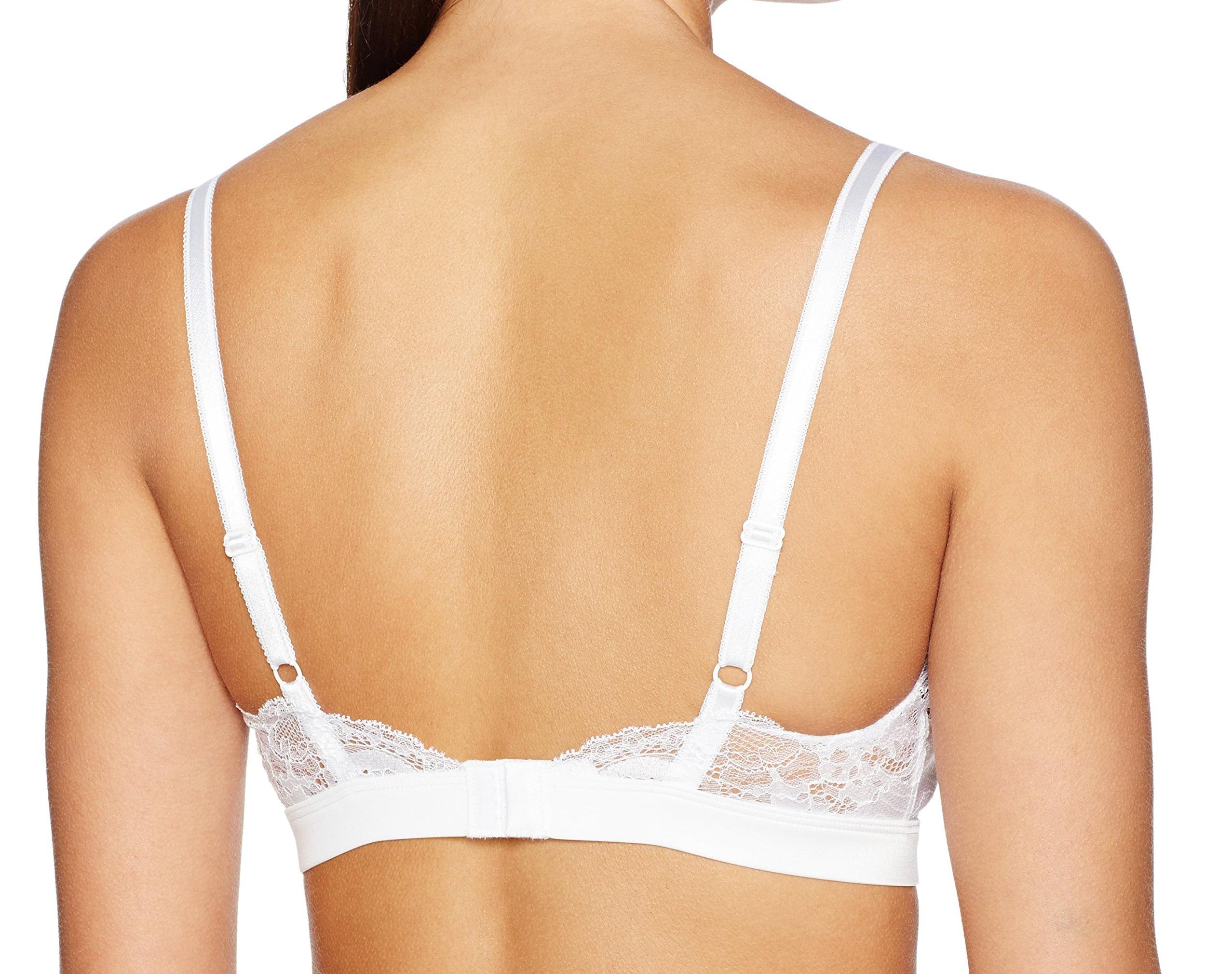 06e13a26ccc Wacoal - Wacoal NEW White Women s Size 38A B Lace Affair Soft Cup Bralette  Bra - Walmart.com