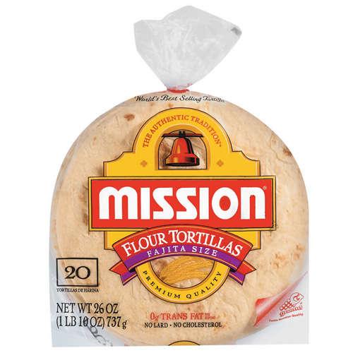 """Mission: Flour 6"""" Fajita Size Tortillas, 20 ct"""