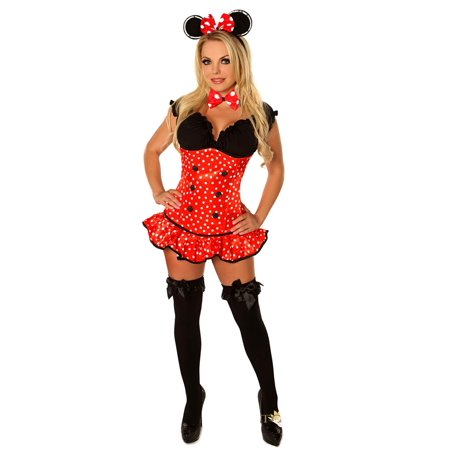 "daisy corsets top drawer ""miss mouse"" sexy women's costume"