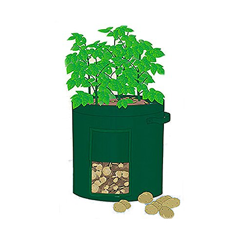 "Mr. Garden 2Pack 10 Gal Grow Bag, Potato Patio Planter Radish/Turnip Planter, Plant Tub with Access Flap for Harvesting, 14"" Diameter X 18"" Height"