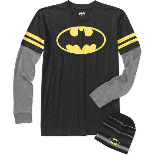 Batman Big Men's Long Sleeve 3 Fer Tee Shirt