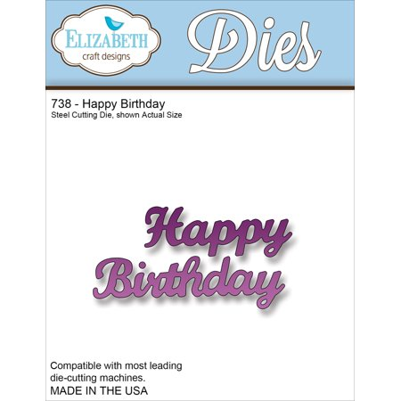 Elizabeth Craft Metal Die-Happy Birthday, 1.5