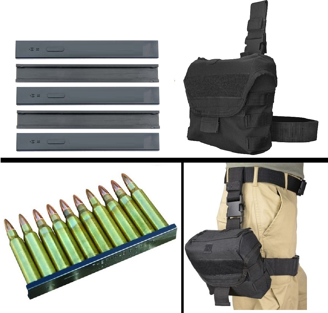 Ultimate Arms Gear Set of 50 Pack Nylon .223 5.56mm 10 RD Round Reusable Easy Reload Stripper Clips + Black Utility... by