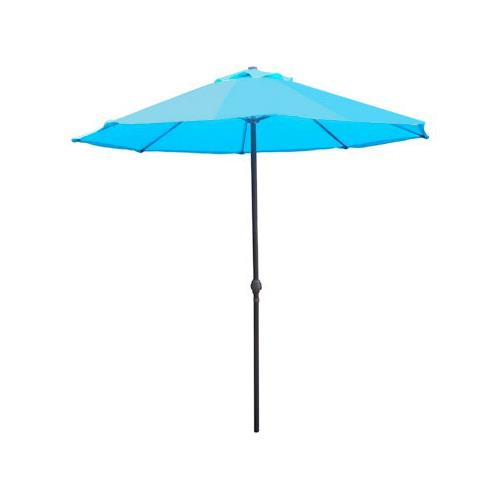 Courtyard Creations UTS45LG-BL Sienna Patio Umbrella, 7.5-Ft., Turquoise Blue by COURTYARD CREATIONS