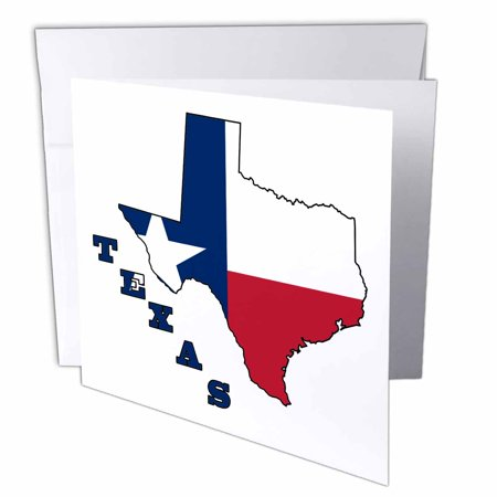 3drose i love texas greeting cards 6 x 6 inches set of 12 3drose texas state flag in the outline map and letters of texas greeting cards m4hsunfo