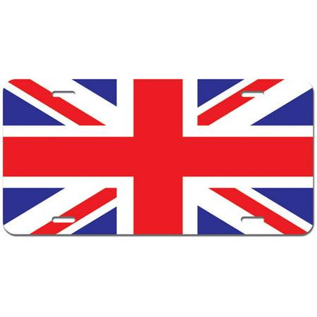 Novelty Onesies Uk (United Kingdom Flag - UK Great Britain Union Jack Novelty Metal Vanity License Tag)
