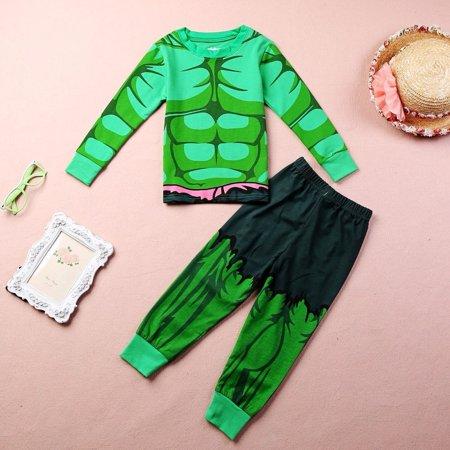 The Incredible Hulk Baby Kids Boys Cartoon Homewear Sleepwear Pyjamas set (The Incredibles Baby)