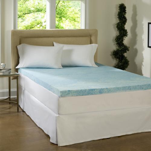 Beautyrest 4-inch Flat Gel Memory Foam Mattress Topper Queen
