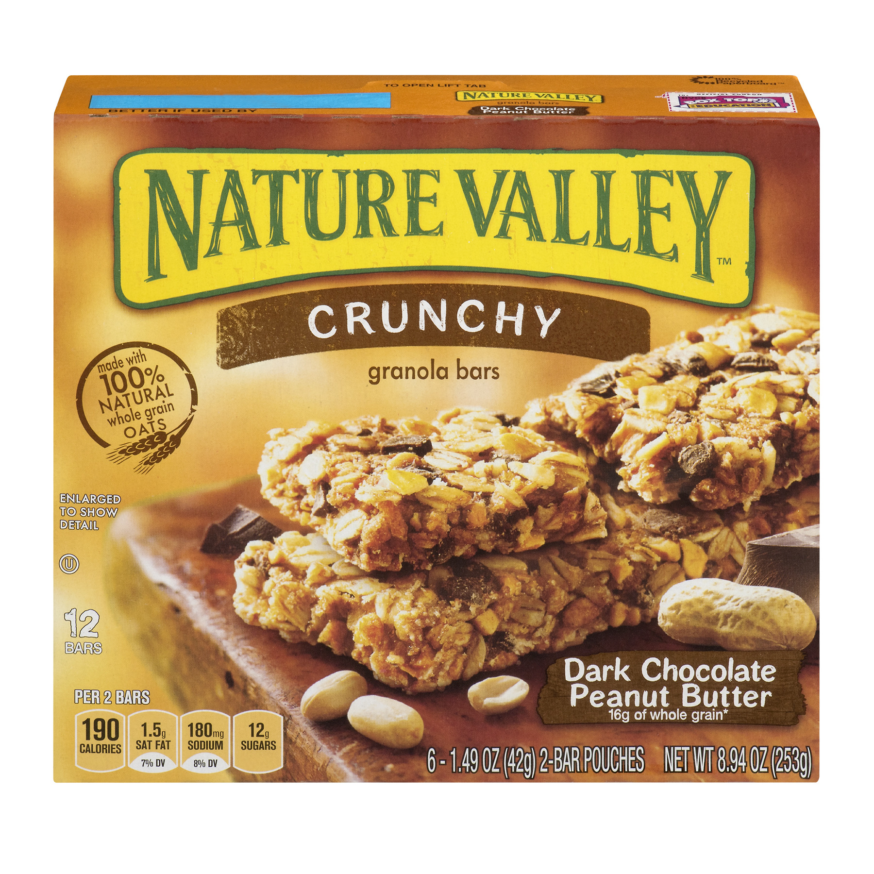 Nature Valley Crunchy Granola Bar Dark Chocolate Peanut Butter 8.94 oz