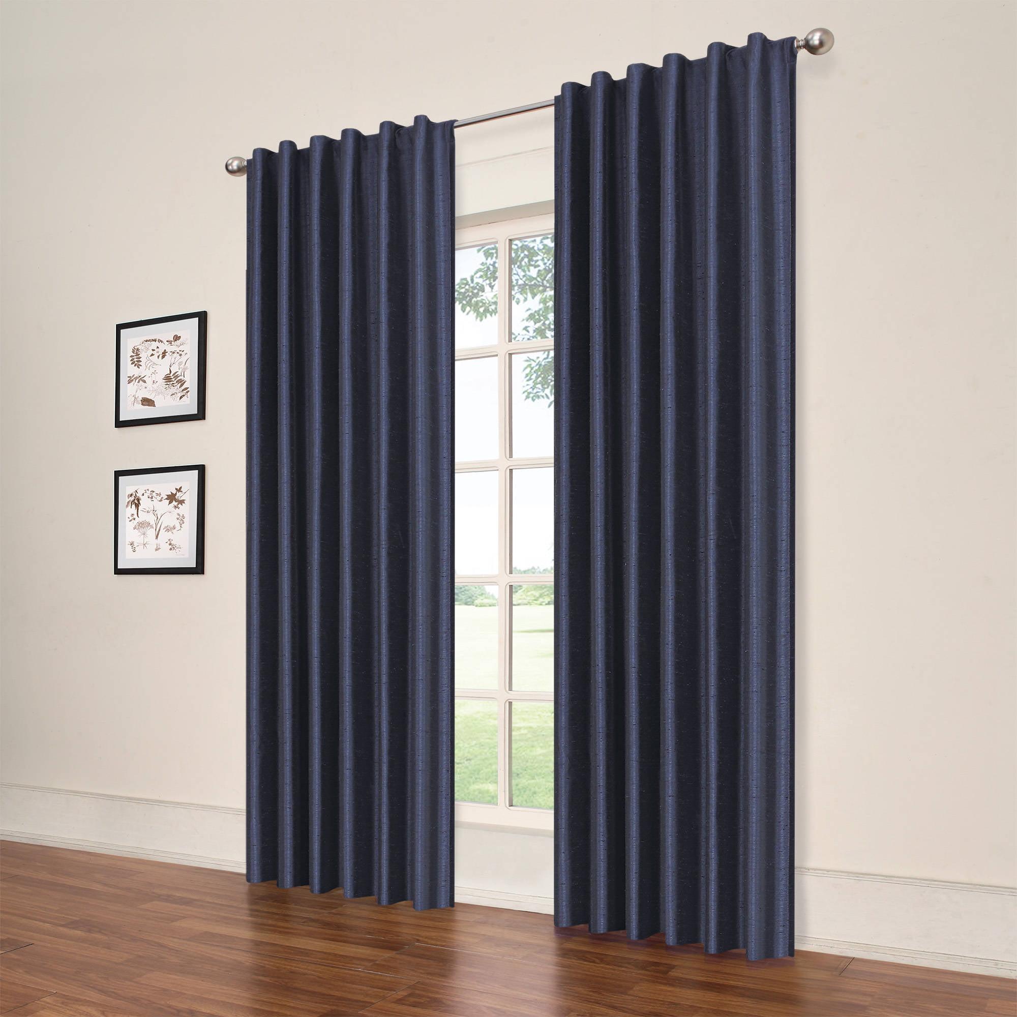 Eclipse Symphony Blackout Window Curtain Panel - Walmart.com for Black Curtains Texture  174mzq