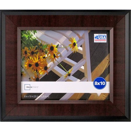 mainstays mai 8x10 frame blackcherry