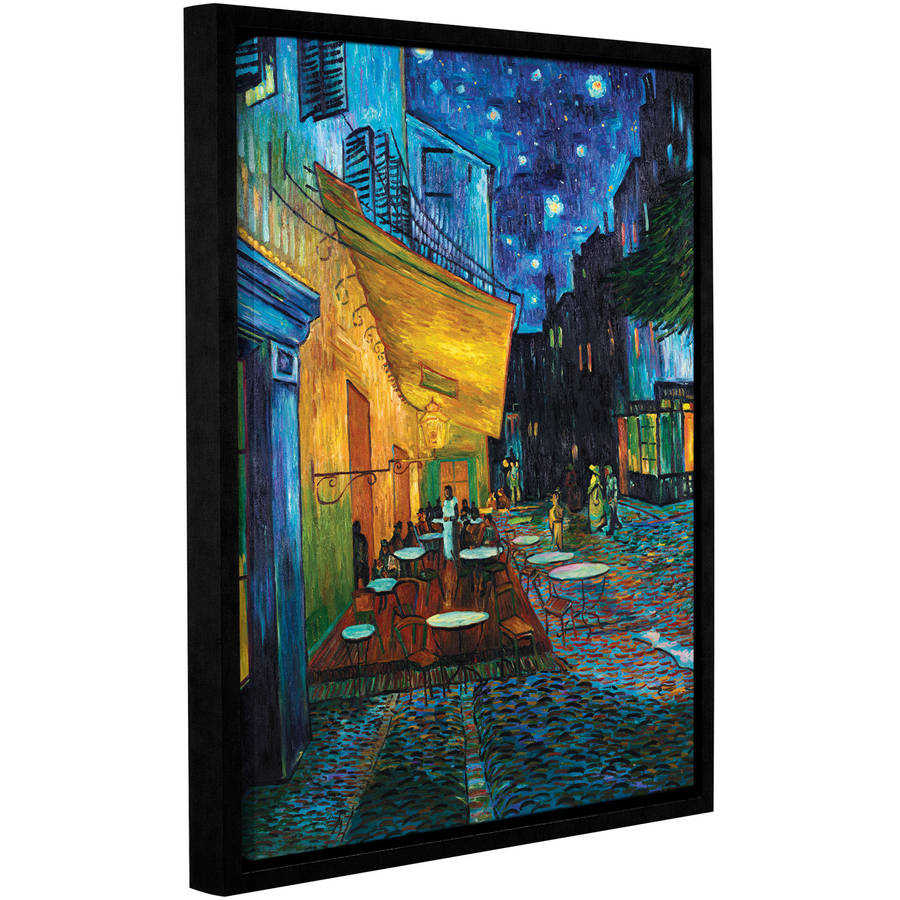 "ArtWall Vincent Van Gogh ""Caf�� Terrace At Night"" Floater Framed Gallery-Wrapped Canvas"