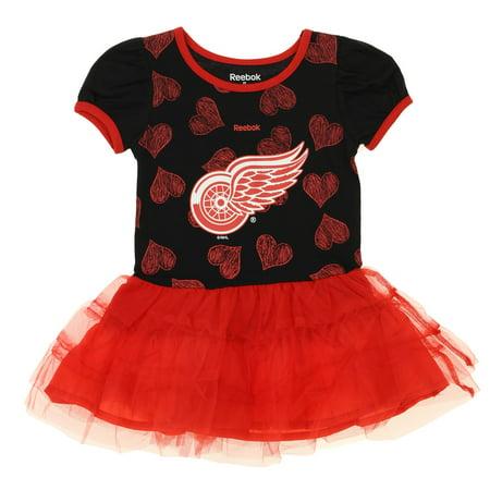 Reebok NHL Toddlers Detroit Red Wings Love To Dance Tutu, Red (Bleu Detroit Halloween)