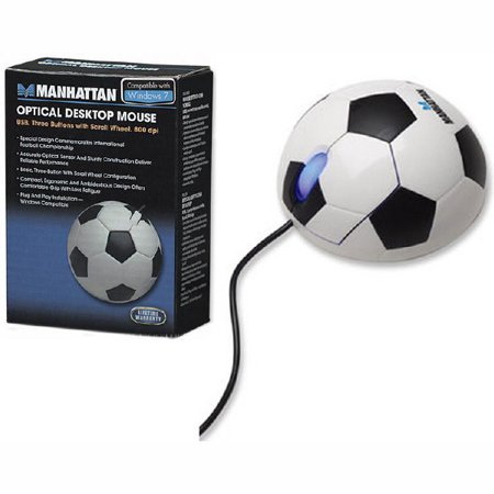 "Manhattan ""Soccer"" Optical Desktop Mouse - USB - image 1 de 1"