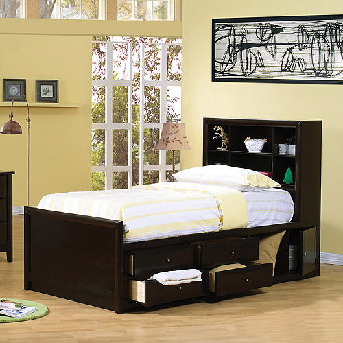 Coaster Phoenix Full Bed with Storage, Cappuccino